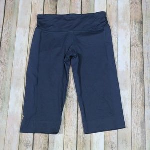 Lululemon Wet Dry Warm Crop Tights Fitted Yoga Run